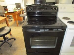 Details About Used 30 Wide Ge Black Smooth Top Range Good Working Condition Very Clean
