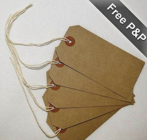 Quality brown parcel string//price tags tie on craft label 4 sizes free postage