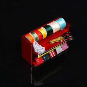 Mini-Vintage-Sewing-Machine-Dolls-House-Sewing-Room-Decor-Accessories-1-12-Scale