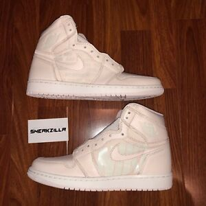 Nike Air Jordan Retro I 1 High OG Guava Ice Sail Swoosh Lot 555088 ... 0a4ee85d7