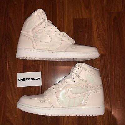 for whole family undefeated x on sale Nike Air Jordan Retro I 1 High OG Guava Ice Sail Swoosh Lot 555088 ...