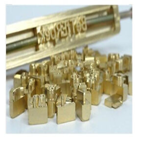 Flexible Brass Numbers 0123456789 for Leather Foil Hot Stamping Printing Machine