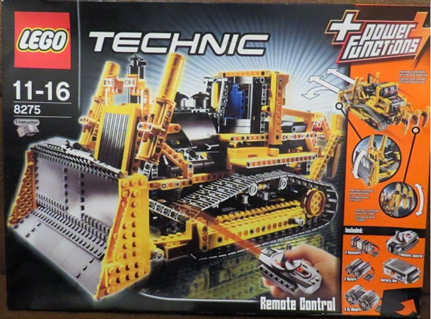 Lego technic rc bulldozer with motor  (8275) ovp and mounting instruction  jusqu'à 60% de réduction