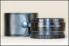 Kalimar 1.4x M/AF Tele Converter f/ Sony Alpha/Minolta Maxxum - Mint Condition