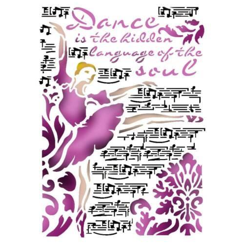 Nuevo Stamperia A4 plantilla Dance