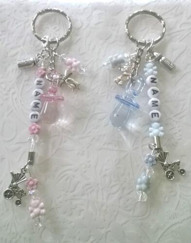 Baby keyring~gift~bag charm~pram charm~changing bag charm~new mum~personalised