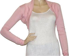 61db6435de94 Ladies New Bolero   Shrug Cardigan Top - Size 10 - 22 (Baby Pink)