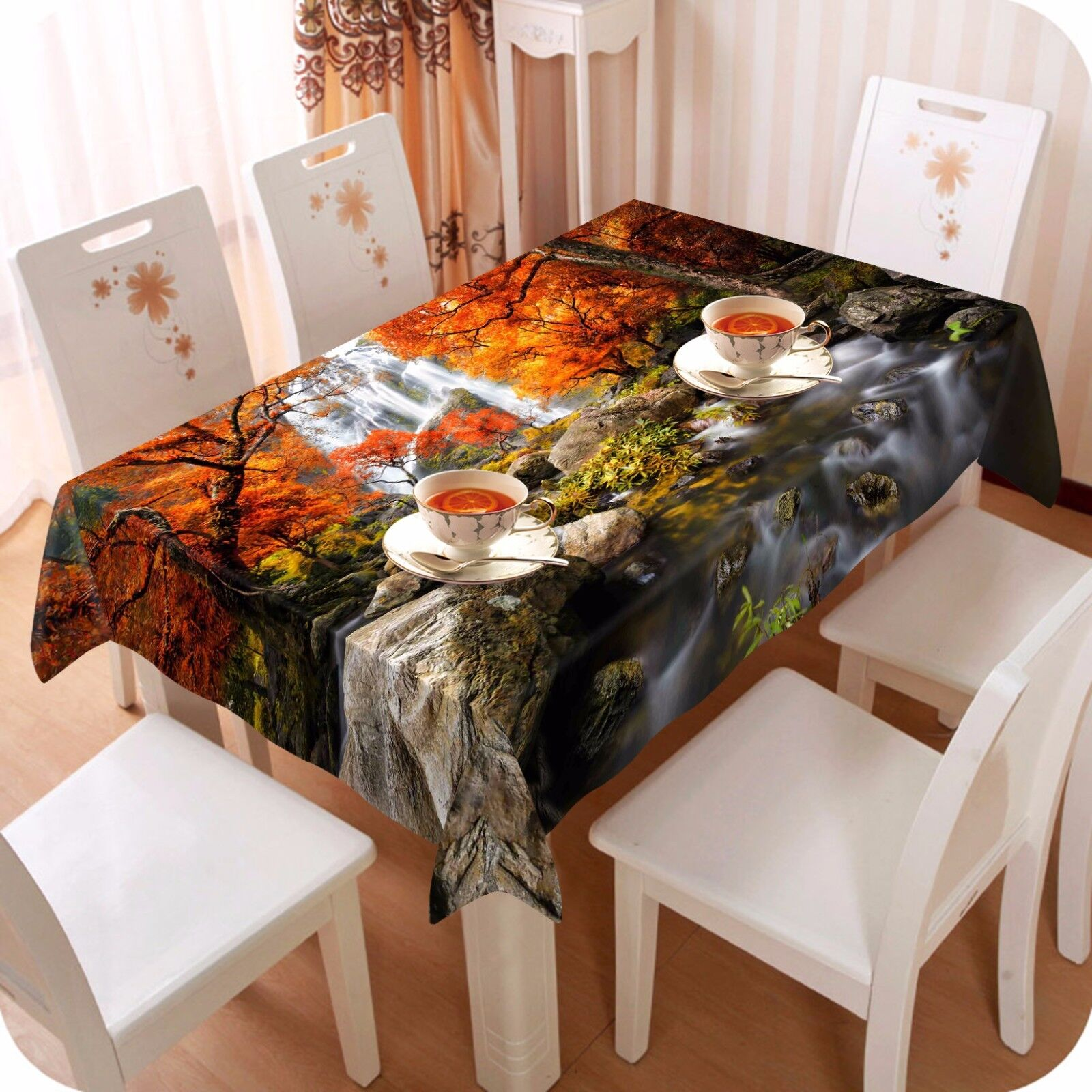 3D Maple 423 Tablecloth Table Cover Cloth Birthday Party Event AJ WALLPAPER AU