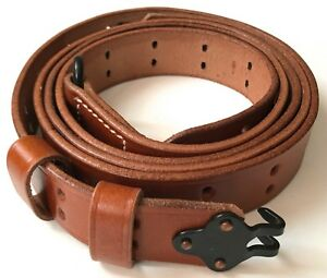 WWII-US-M1-GARAND-RIFLE-M1907-LEATHER-CARRY-SLING
