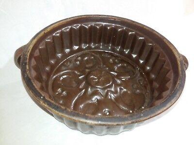 "3383- Antike Backform ""guglhupf"" Kramik, Ton-schüssel, Hafnerware, Um 1900"