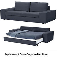New IKEA Kivik Replacement 3 Seater Sofa Bed Slip Cover Set - Idemo Dark Blue