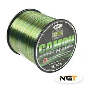 NGT-Camo-Camou-Fishing-Line-Bulk-Spool-10lb-12lb-15lb-or-18lb-Carp-Pike