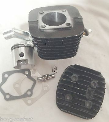 47mm 80CC Gas Motor Bicycle Engine Cylinder Head Piston KIT low hole 40mm intake