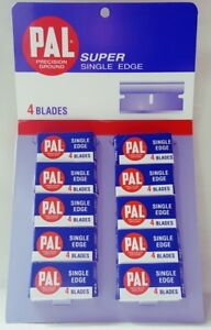 40-Pal-Super-Single-Edge-Razor-Precision-Ground-Blades-by-Personna-Gem-Treet-New