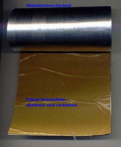 Walzblei selbstklebend 1000 x 180 x 1,0 mm Bleifolie Blei Dach Strahlenschutz
