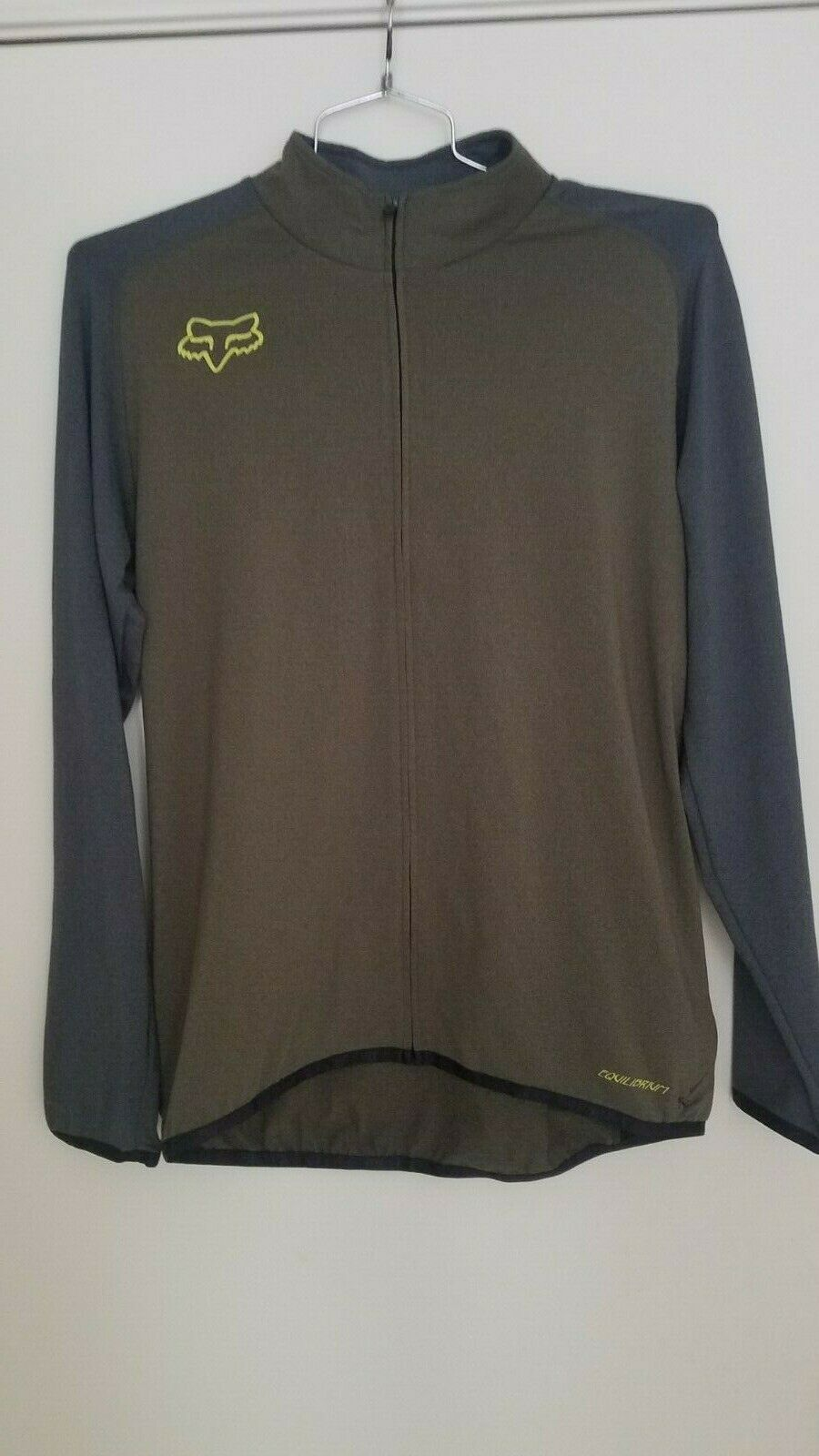 Fox Racing Men's  Equilibrium long sleeve jersey Large Green Grey NEW  discounts and more