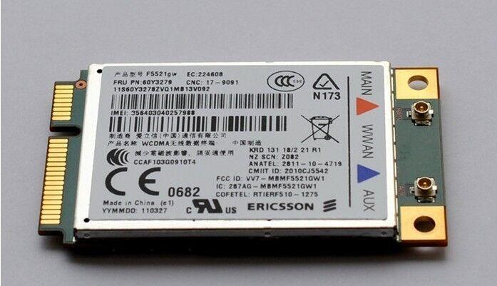IBM Lenovo Thinkpad F5521gw 60Y3255 3G Wireless Card