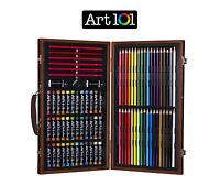 Sketch Drawing Art Set Painting Color Artist Kit Pencil Pastel Wood Case Box