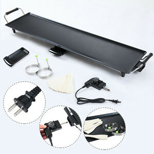Image Is Loading Electric Teppanyaki Table Top Grill Griddle BBQ Barbecue
