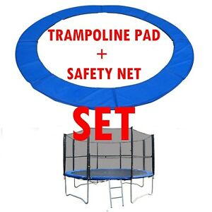 BodyRip-Trampoline-Padding-Mat-and-Safety-Net-Set-8-10-12-14FT-Double-Lock-Entry
