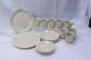 Corelle-Lace-Bouquet-Lot-of-25-Cups-Saucers-Salad-Dinner-Plates