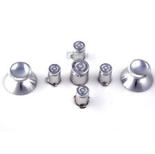 Chrome Silver Metal ABXY Bullet Buttons + 2 Thumbsticks for Xbox 360 Controller