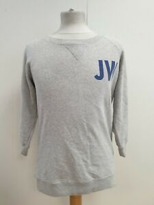N82-WOMENS-JACK-WILLS-GREY-COTTON-CREW-NECK-L-SLEEVE-JUMPER-UK-10-US-6