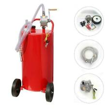 Fuel Transfer Tank with Pump for The Car Boat Motorcycle Lawn Mowers Tractors,Hand Siphon 2 Pump Flat-Free Solid Rubber Wheels Gasoline Storage Portable Gas Caddy ACUMSTE 30 Gallon Fuel Tank