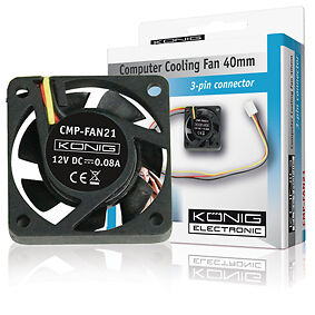 Konig-Computer-Fan-Ventilator-Systeem-Koeler-40-X-40-X-10-mm