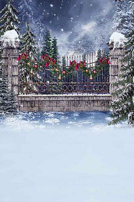 Snowy Xmas 8'x12' CP Backdrop Computer printed Scenic Background XLX-117
