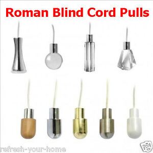 U Choose Style Shade Cord Pulls Roman Blinds Light Shower