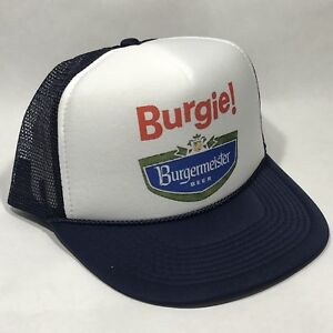 f78db09a9af Image is loading Burgie-Burgermeister-Beer-Trucker-Hat-Mesh-Vintage-80s-