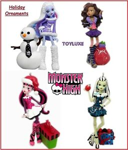 Monster-High-Holiday-Figural-ORNAMENT-Figure-Christmas-Tree-Hanger-YOU-PICK-NIB