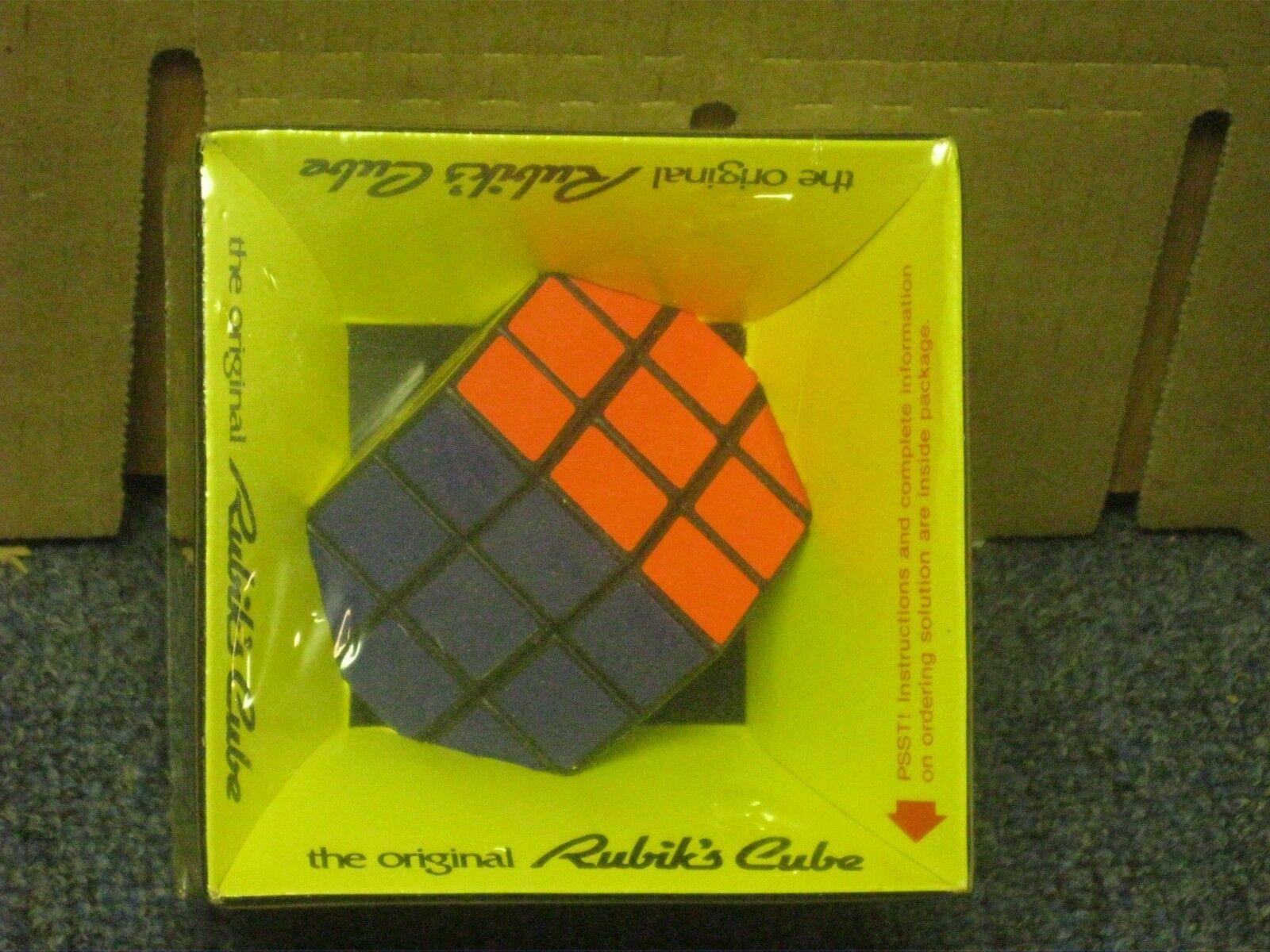 1980 Rubik s kub förseglad ny i paketidealiska leksaker