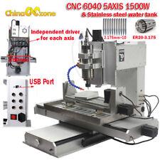 6040 5axis Cnc 1500w Router Engraving Machine Metal Copper Millingcuttin Machine
