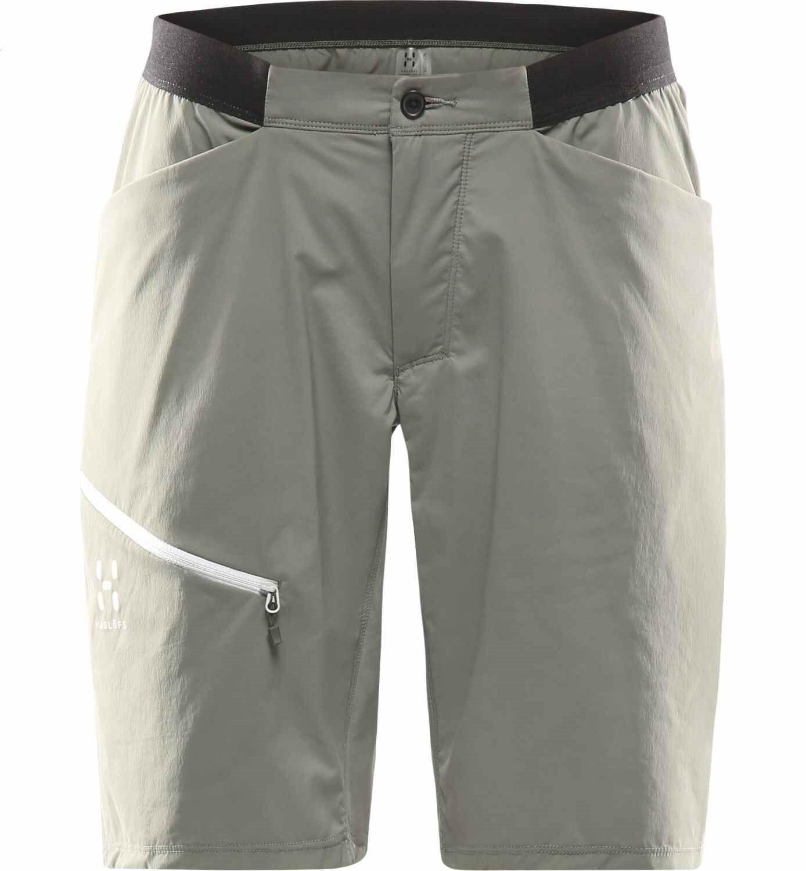 Haglöfs l.i.m Fuse shorts mujer, Lite beluga, ligera señora shorts, outdoor-Short