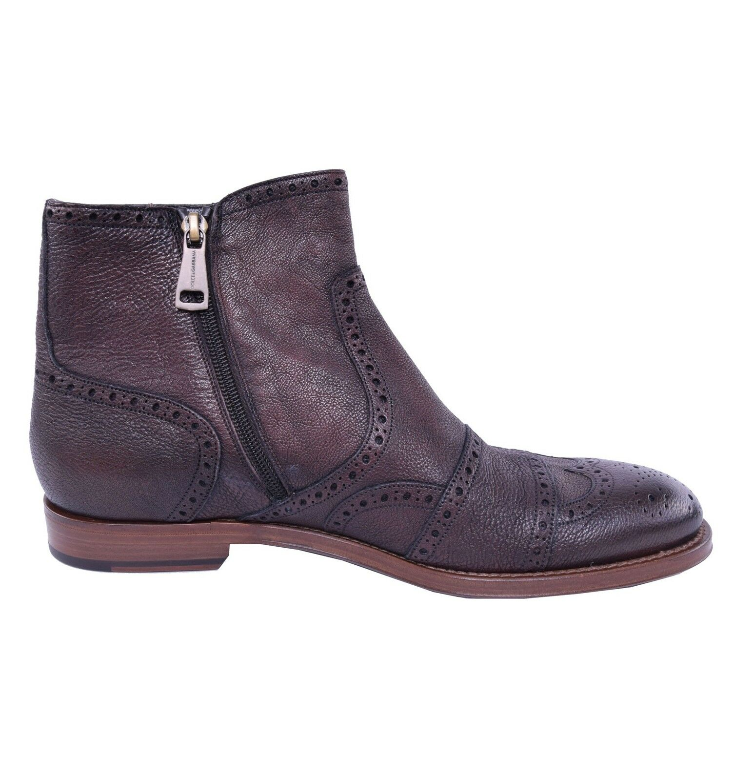 Dolce & gabbana leather deer business boots shoes braun boots 03823