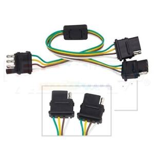 4 Way Trailer Plug Wiring Harness Y Adapter Converter Splitter for  Way Wiring Harness Ford on 4-way valve, 7-wire trailer harness, 4 wires on a trailer harness, 4 prong 5 wire trailer harness, 4-way flat trailer wire, 1998 ford f-150 tow harness, 4-way switch, 8 wire trailer harness, seven prong trailer harness, 4-way trailer connection, power window switch harness, 4-way flat connector for ford,