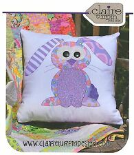 Happy Rabbits - Applique Sewing Craft PATTERN - Cushion Shabby Chic