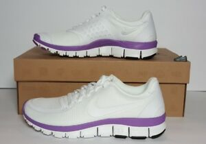 450b265545ae1 NIKE FREE 5.0 V4 WOMEN S SIZE 7 NEW   BOX WHITE  VIOLET POP 511281 ...
