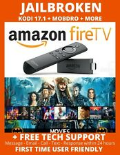 AMAZON FIRE STICK W/ALEXA K O D I 17.4 TV SHOWS MOVIE SPORTS AND MORE