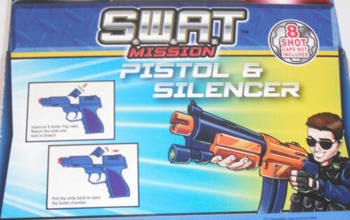 Jouet S.W.A.T Bleu Avec Orange astuce pour Satisfaire les règles européennes DIE CAST METAL Cap Gun Rouge