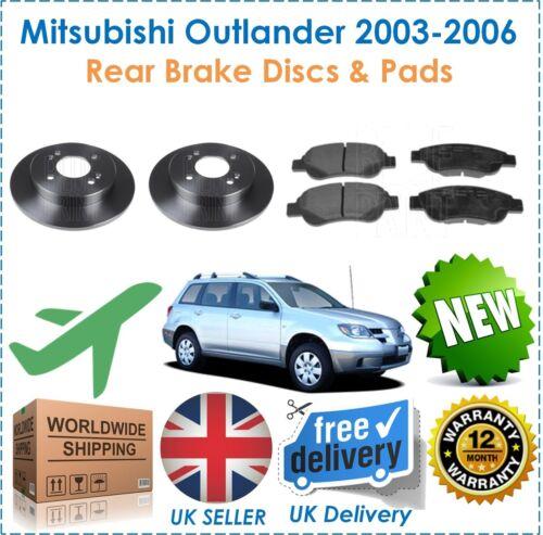 Pour MITSUBISHI Outlander 2.4i la technologie Mivec 2003-2006 Arrière Disques De Frein /& Disque Pads Set