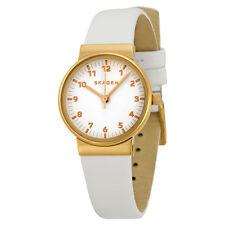 Skagen Ancher White Dial White Leather Ladies Watch SKW2290
