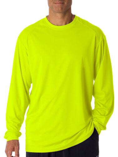 4104 Badger B-Dry Core Long Sleeve T-Shirt 100/% Polyester Men or women