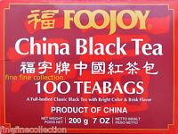 Foojoy China Black (red) Tea - 100 Tea Bags 7oz. Us Seller, Fast Shipping