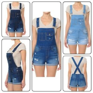 Women-Overall-Washed-Denim-Jumpsuit-Distressed-Denim-Overalls-Shortall-S-3XL