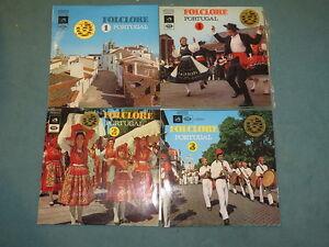 4 LPs Folclore Portugal 1-4  EMI Portugal Vinyl/Cover: excellent