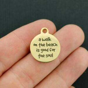 Beach Stainless Steel Charms A walk on the beach is good for the soul BFS1797