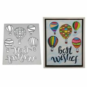 Scrapbooking & Stamping Arts,crafts & Sewing Air Balloon Metal Cutting Dies Stencils For Diy Scrapbooking Decorative Embossing Card Making